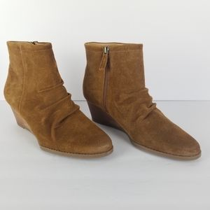 Franco Sarto Winston Wedge Ankle Boots Booties 9